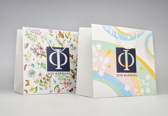 Фирменные бумажные пакеты с логотипом